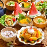 豆腐入り鶏団子と夏野菜の甘酢餡*レシピ*