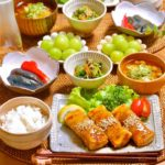 副菜に♩茄子のピリ辛煮